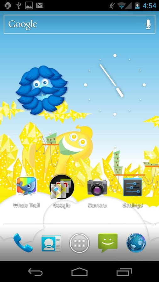 Whale Trail Live Wallpaper - screenshot