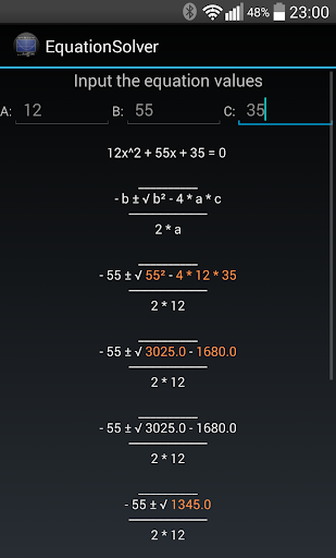 Quadratic Equations Solver