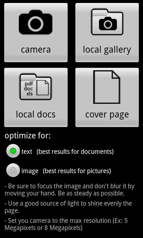 MobileFax - screenshot