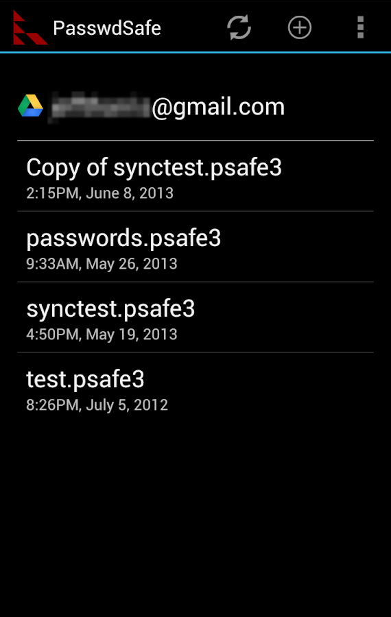 PasswdSafe - screenshot