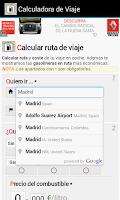 Screenshot of Consumo de Gasolina en Coche