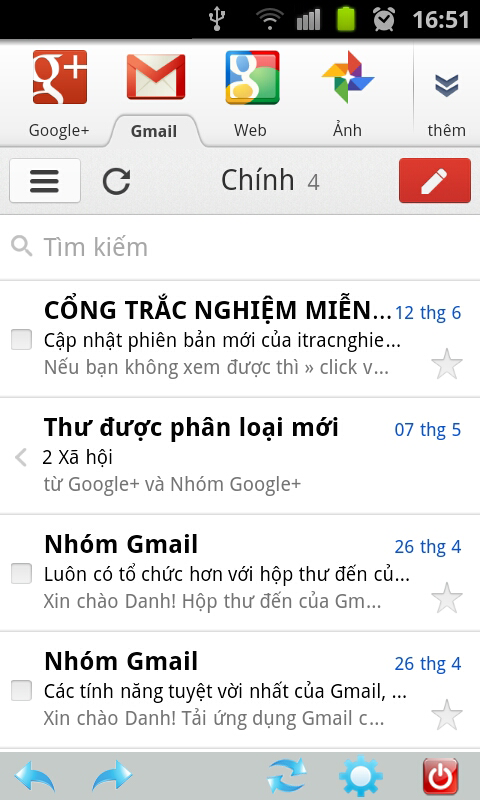 Safe email for Gmail - screenshot