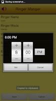 Screenshot of Ringer Manager