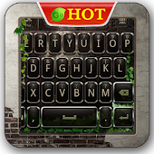 GO Keyboard Black Green 2014