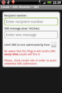 Locale SMS Plug-in (cupcake)- screenshot thumbnail
