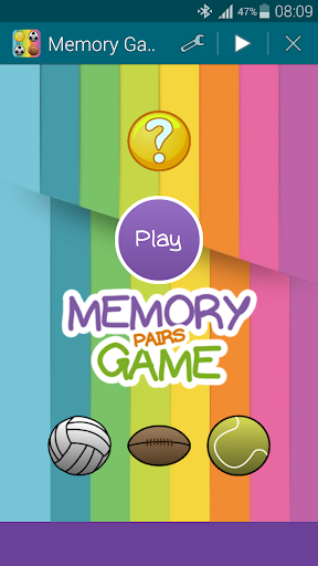 Sports 1 Memory Game Pairs