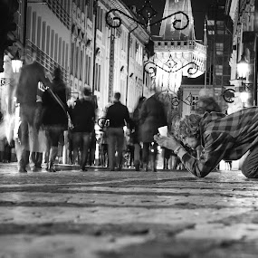 by Dragos Birtoiu - People Street & Candids ( beging, homeless man, black and white homeless )