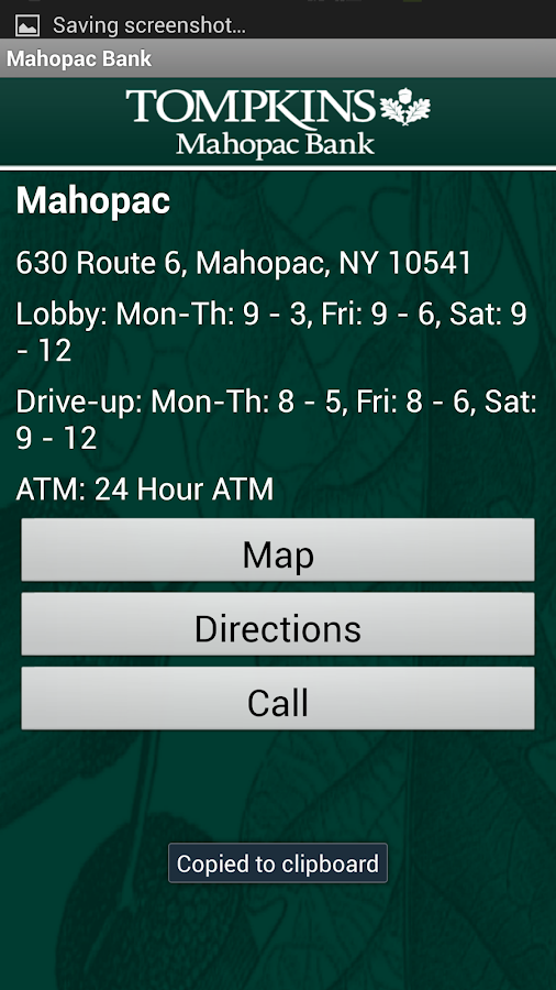 Mahopac Bank Mobile - screenshot