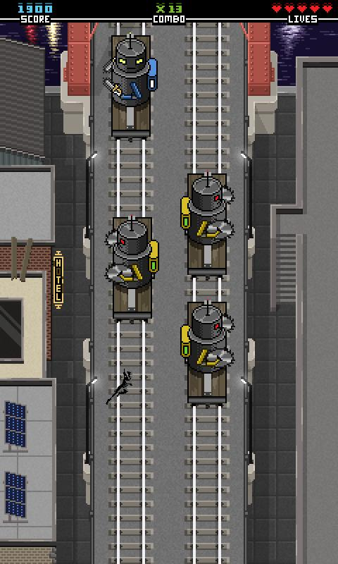 Ninjas Don't Like Trains- screenshot