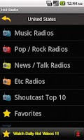 Screenshot of Hot Radio