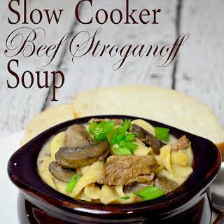 Slow Cooker Beef Stroganoff Soup~Recipe.