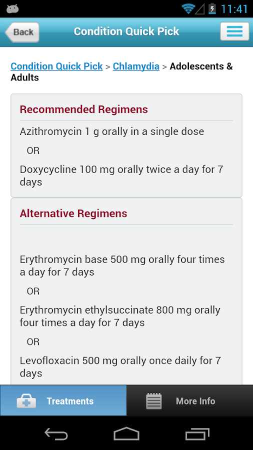 STD Treatment Guide - screenshot