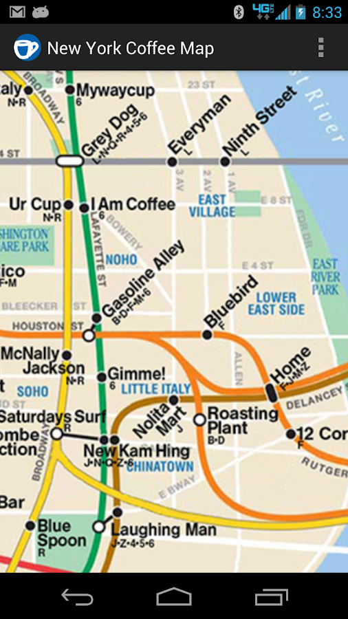 New York Coffee Map - screenshot