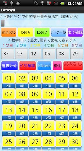 ロト6・ミニロト・ロト7 数字選びアプリ