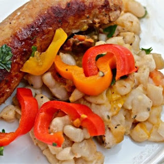 Italian Sausage with Cannellini Beans and Pickled Peppers