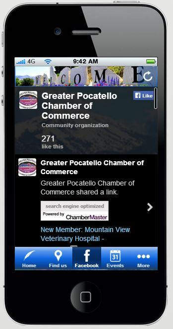 Pocatello Chamber of Commerce- screenshot