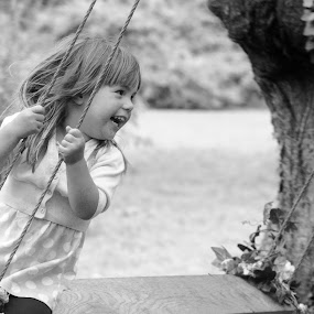 Summer swinging by Ruth Holt - Novices Only Portraits & People ( girl, elsham, happy, play, summer, fun, swing,  )
