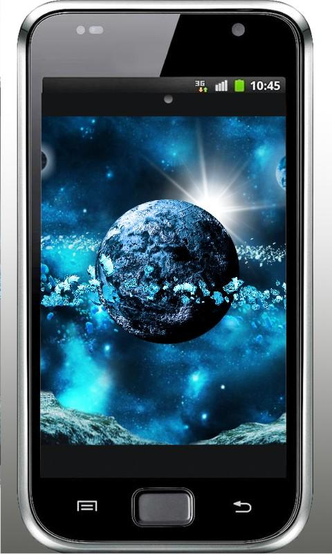 Space Ice World live wallpaper - screenshot