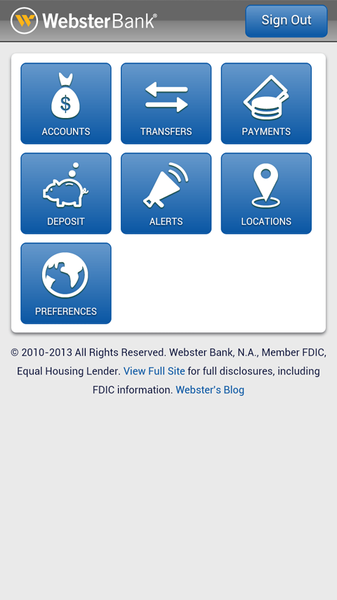 Webster Bank® Mobile - screenshot