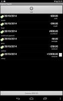Screenshot of Expense Register