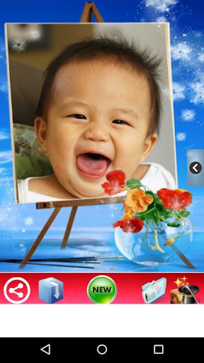 사진 어린이와 아기 프레임