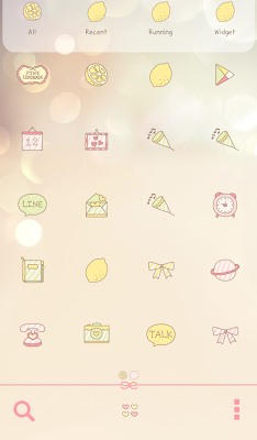pink lemonade dodol theme - screenshot