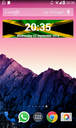 Jamaica Clock Widget
