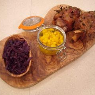 Honey-roasted Ham Hock With Red Cabbage And Piccalilli