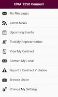 Screenshot of CWA1298 Connect