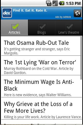 LewRockwell.com for Android - screenshot