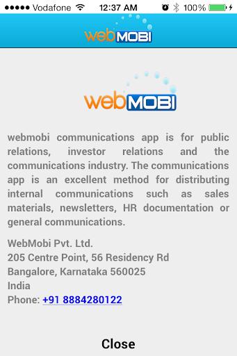 WebMobi Internal Communication