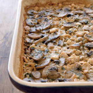 Marsala Chicken-and-Mushroom Casserole.