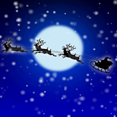 Santa Moon Live Wallpaper