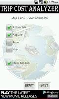 Screenshot of Trip Cost Analyzer