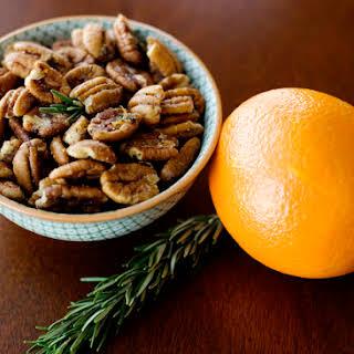 Orange and Rosemary Pecans.