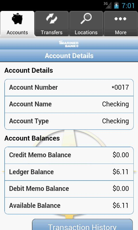 1st Mariner Bank - Mobile Bank - screenshot
