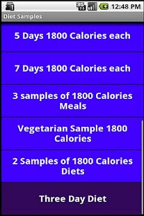 1300 and 1800 Calories Diets- screenshot thumbnail