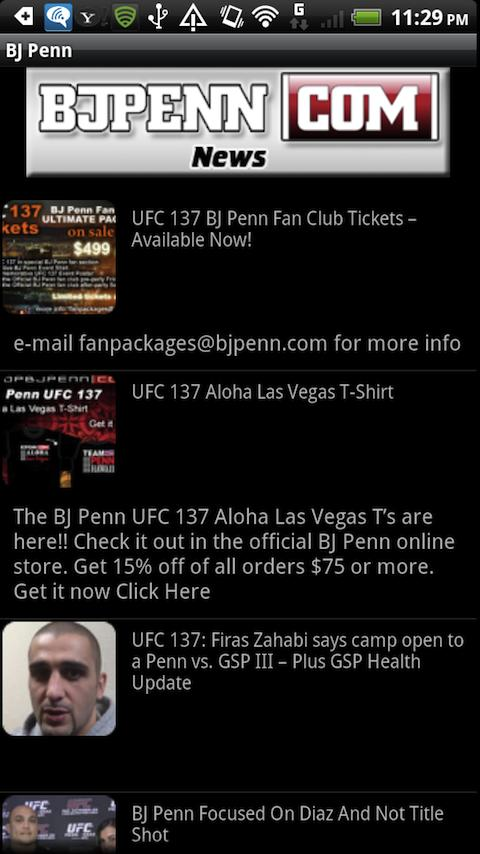 BJ Penn - screenshot