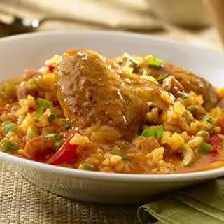Asopao de Pollo (Chicken Rice Gumbo).