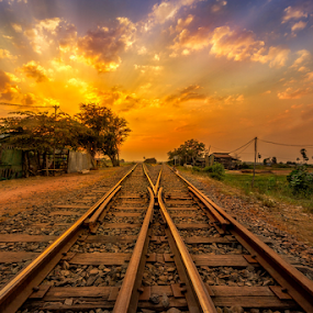 Railway to the heavens  by Liquid Lens - Landscapes Sunsets & Sunrises