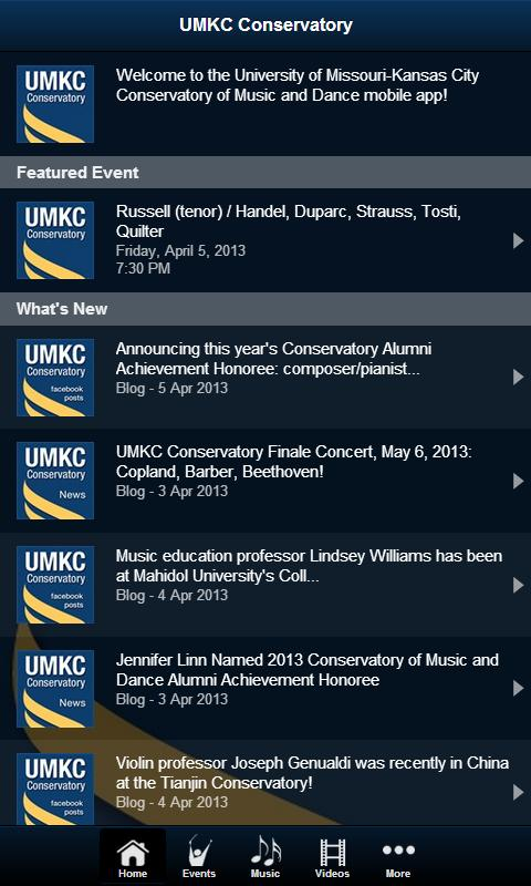 UMKC Conservatory- screenshot