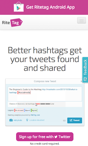 RiteTag Hashtag Optimizer