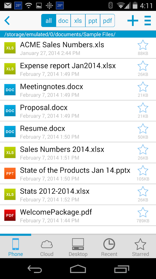 Docs To Go™ Free Office Suite- screenshot