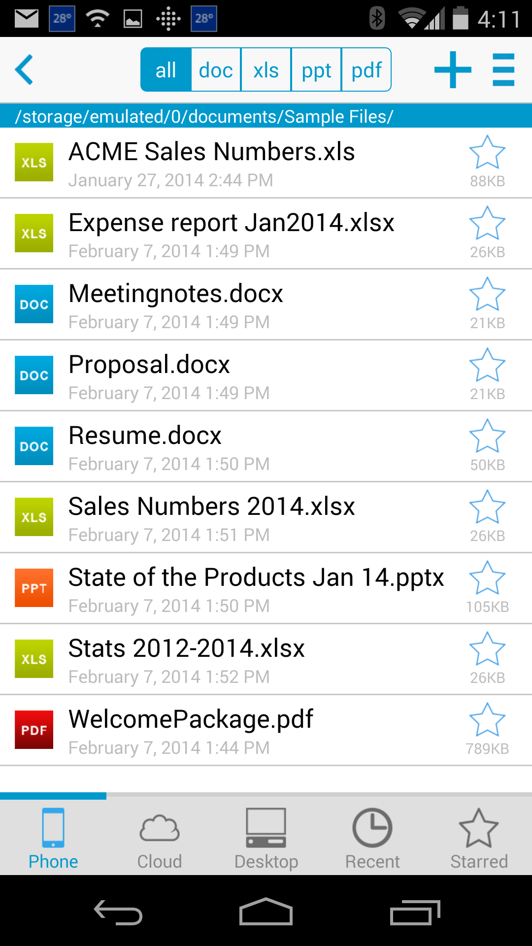 Docs To Go™ Free Office Suite screenshot #1