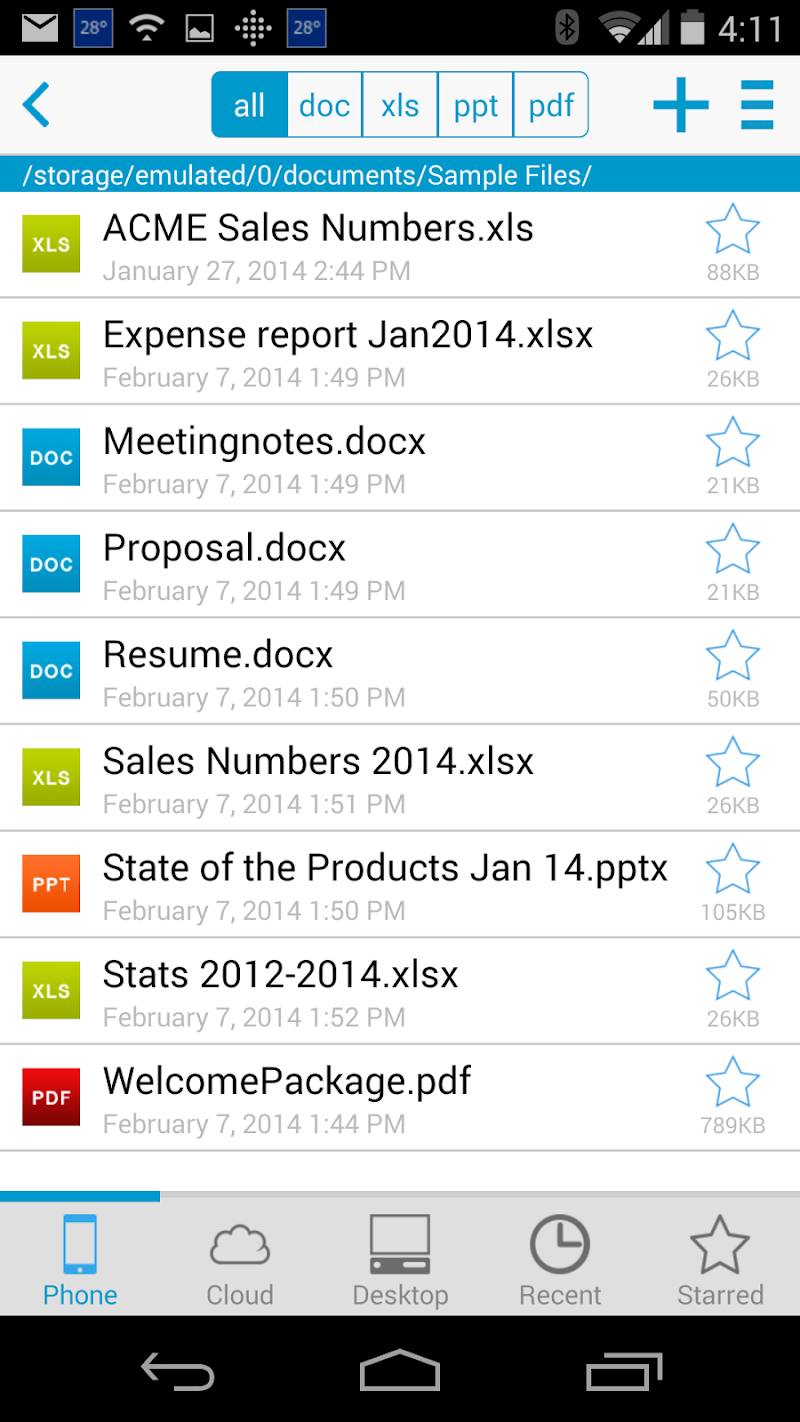 Docs To Go™ Free Office Suite Screenshot 0