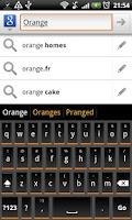Screenshot of Orange Slate HD Keyboard Theme