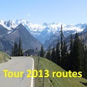 Cycling the Alps tour routes icon