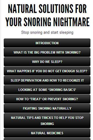 Stop Snoring Natural Ways