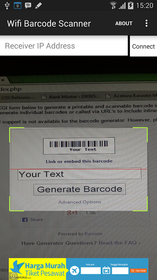 WiFi Barcode Scanner- screenshot