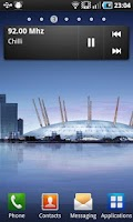 Screenshot of Samsung Galaxy S radio widget